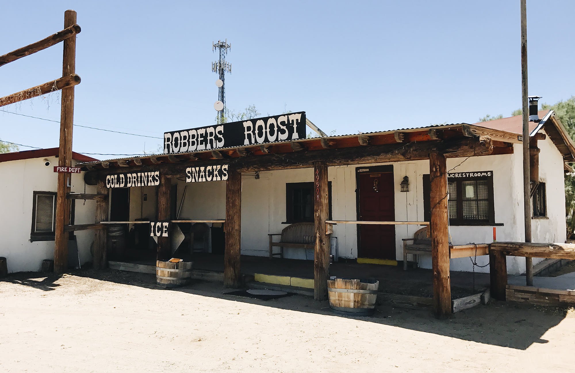 Ghost town of Robbers Roost
