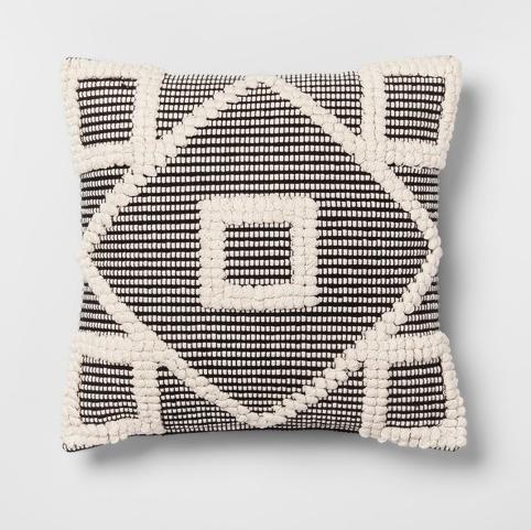 Black Diamond Throw Pillow - Opalhouse, $19.99