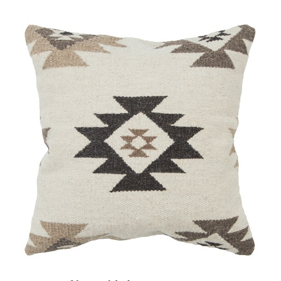 RIZZY HOME SOUTHWEST THROW PILLOW BEIGE, $59.99