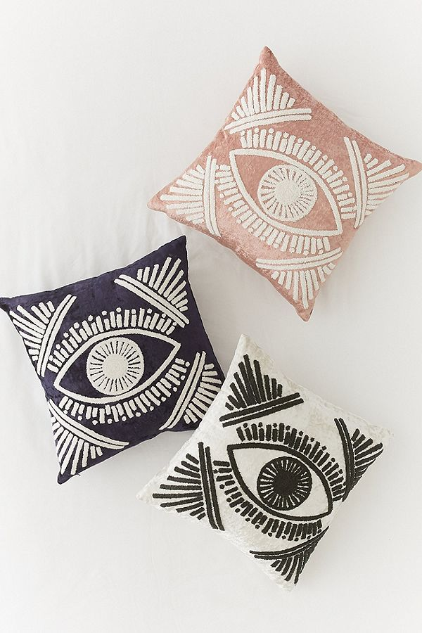 Magic Eye Velvet Throw Pillow, $49 each