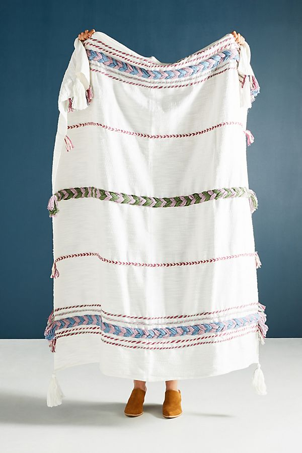 Braided Marcia Throw Blanket, $128