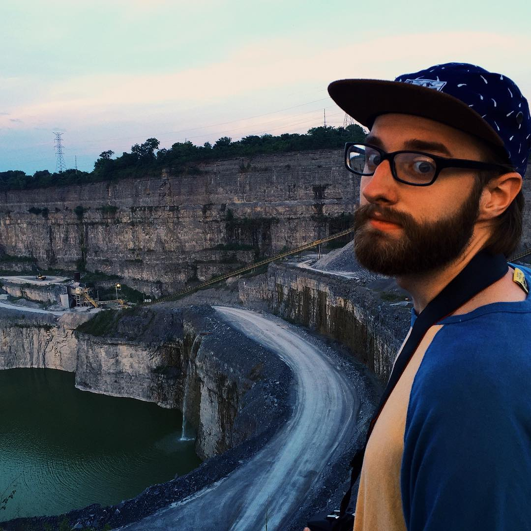 We get in fights all the time and sometimes try to kill each other, but Joel has an adventurous and compassionate heart that I learn from everyday.     Exploring the quarry down the street.