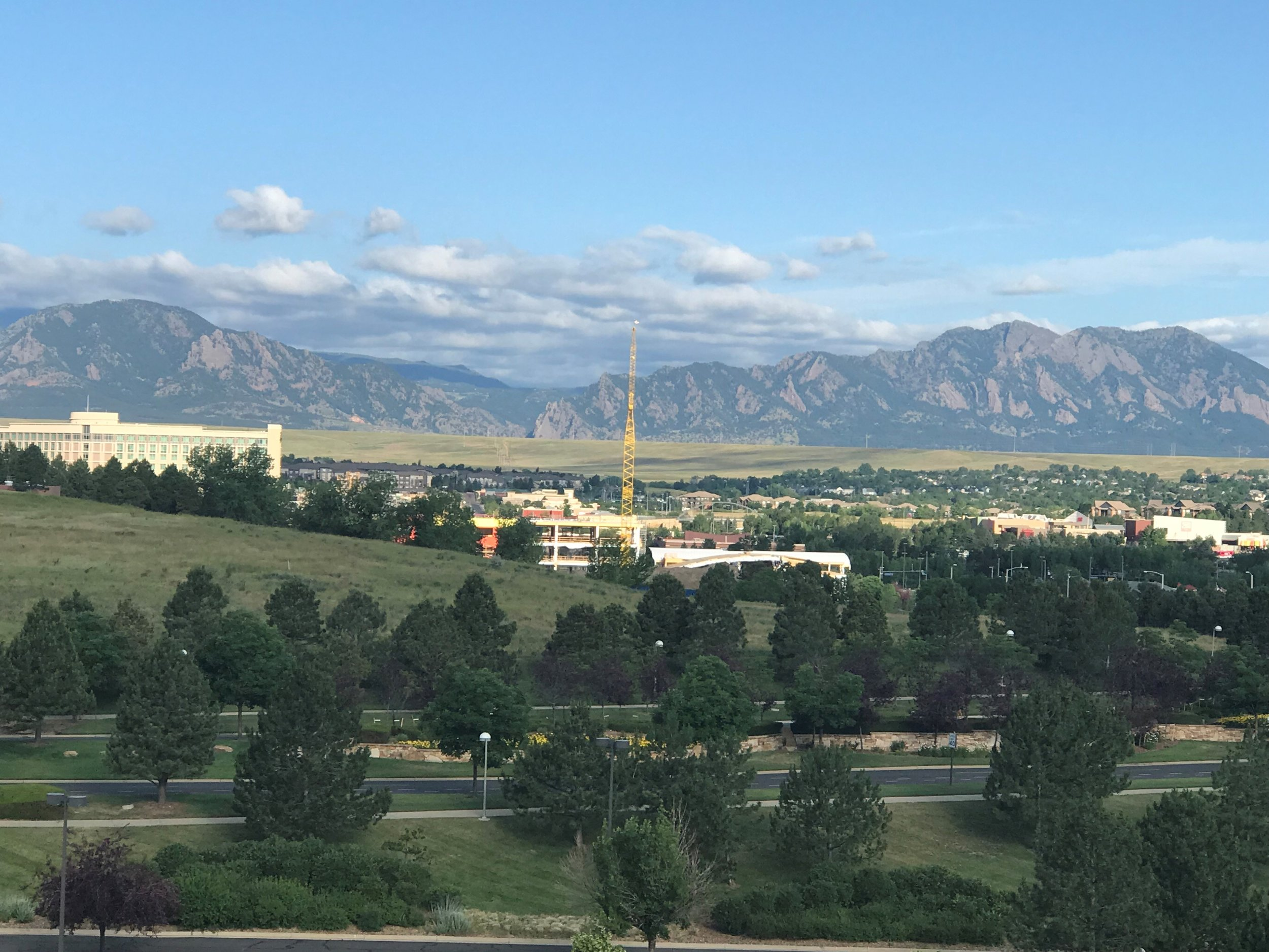 View of the mountains from the Omni Hotel