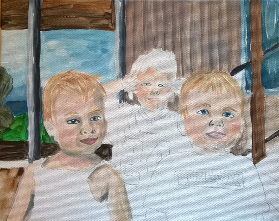 Figure  3 : Kids portrait I abandoned at the ugly stage.