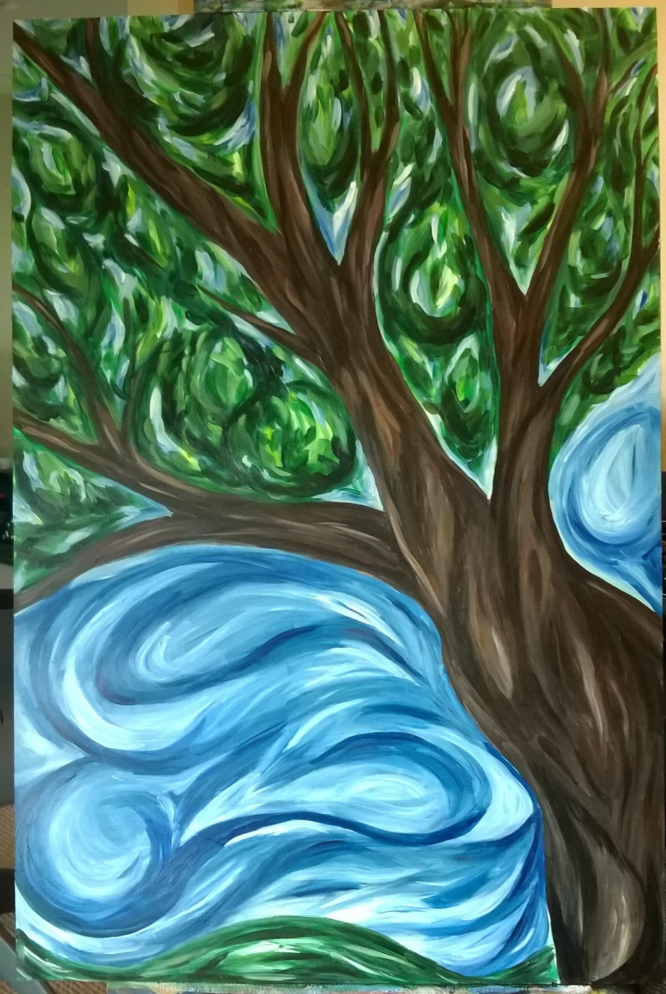 Figure 1: Painting for my son's school auction. May 2014. Acrylic on Gesso board.