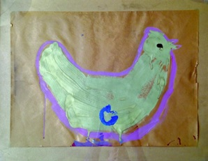 Figure 2: Chicken painting. Age 6.