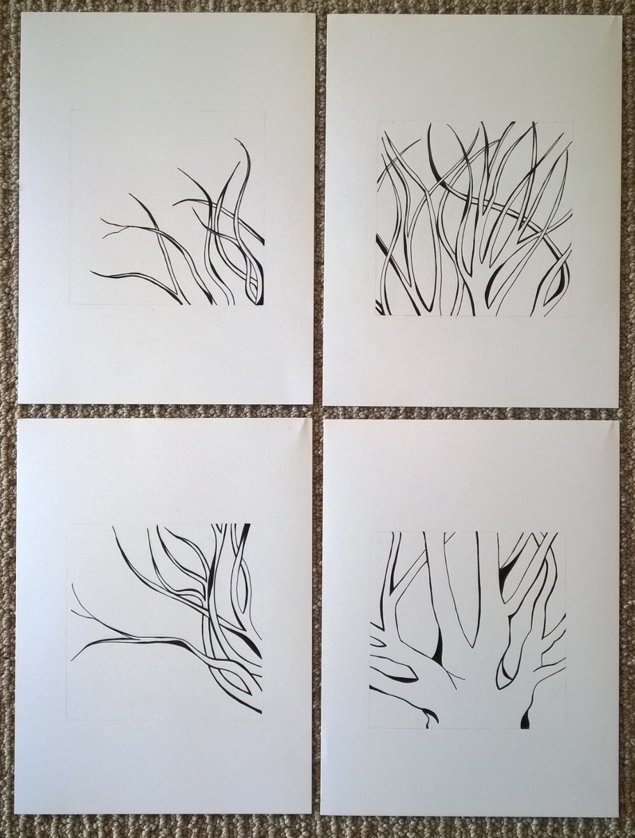 Figure 5: A version of the drawings to be matted and framed individually.