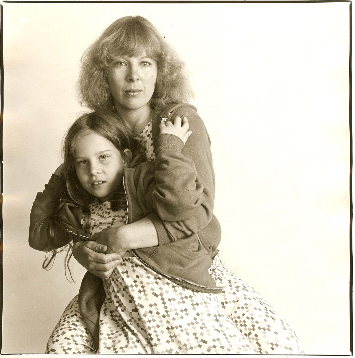 My mother and I in matching dresses. 1980. Photo credit:  Sarah Longacre .
