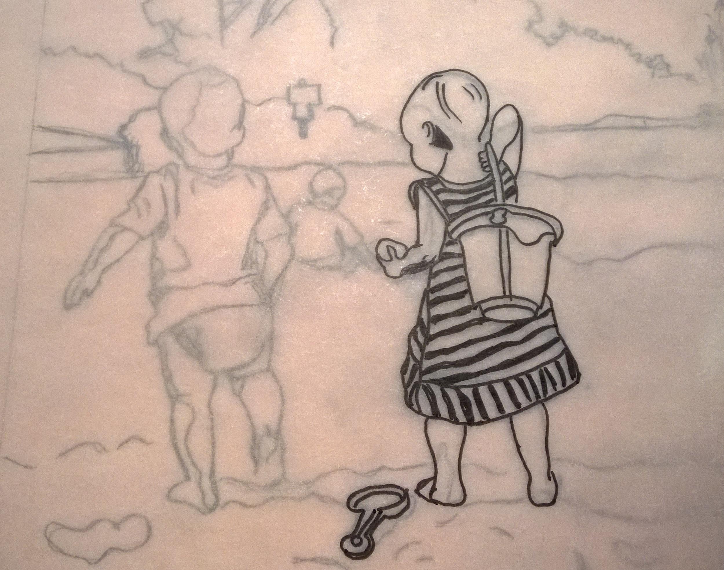 Figure 1: Work in progress photo from art gift in 2014.