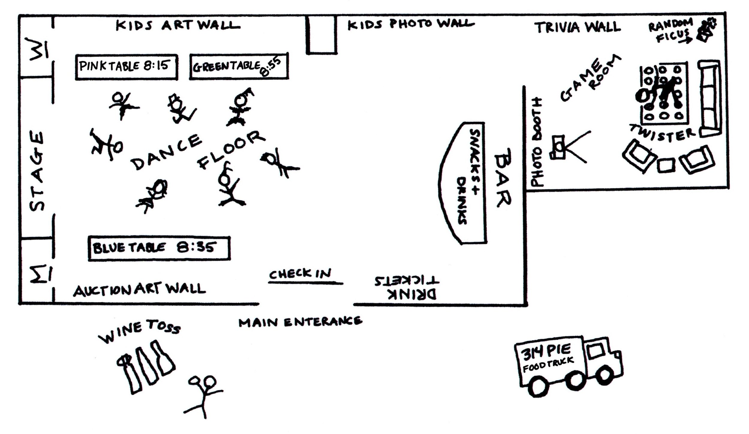 """Figure 1: Only """"art"""" I did in the spring. Map for the preschool auction I worked on. It was a rocking good time. You should really come next year."""