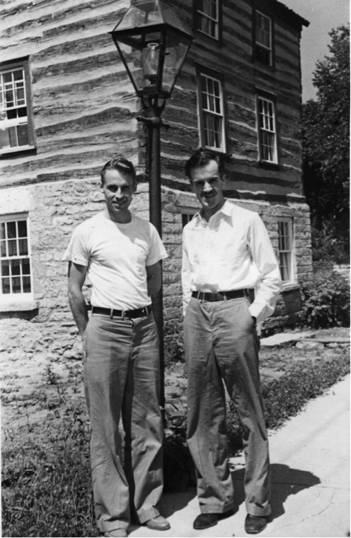 BOB NEAL AND EDGAR HELLUM      image courtesy of Mineral Point Public Library
