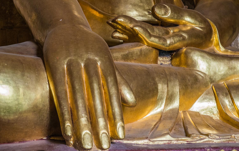 Buddha Hands. Bagan, Myanmar