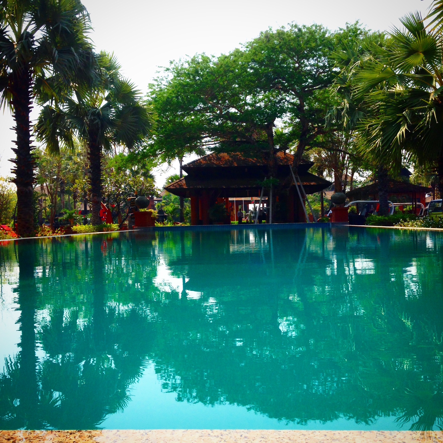 Pool at my hotel. Just what I needed this afternoon. Bagan, Myanmar