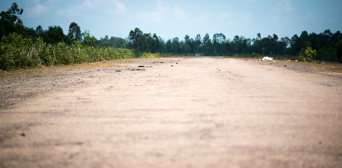 US Marine air base runway during the Vietnam War. Hoi An, Vietnam