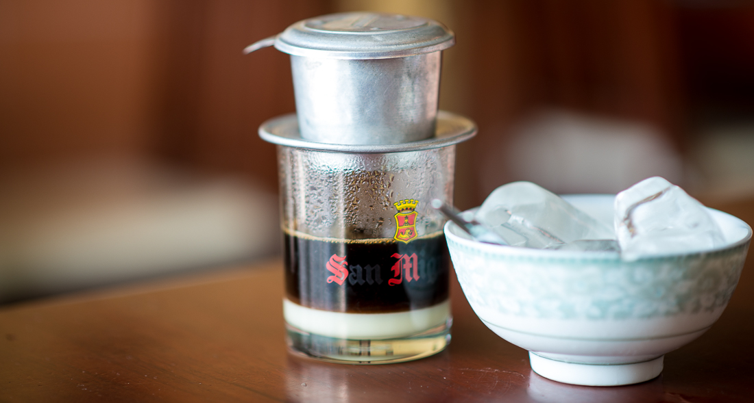 Vietnamese iced coffee. Great way to start the day! Hoi An, Vietnam