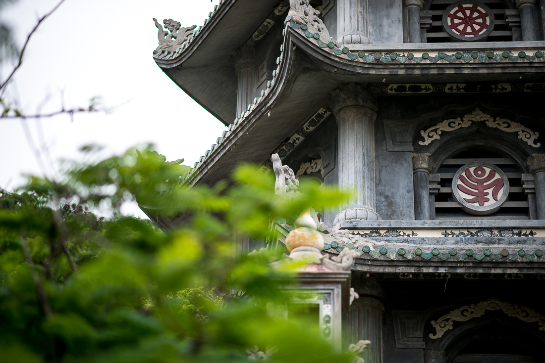 Pagoda on the top of Marble Mountain. Hoi An, Vietnam