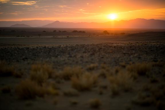 Sunrise at Sossusvlei. The Namib Desert.