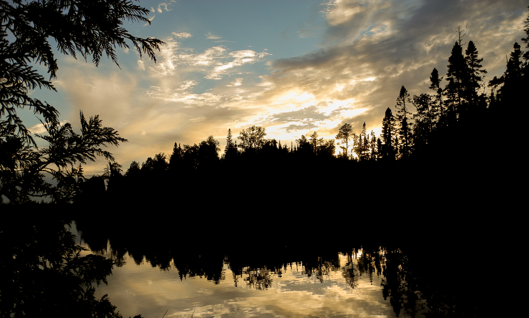 First Sunset In The BWCA...Crooked Lake