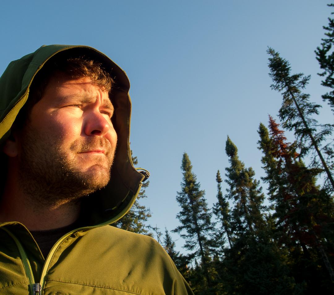 Brian Enjoying The Sunrise...Crooked Lake...BWCA