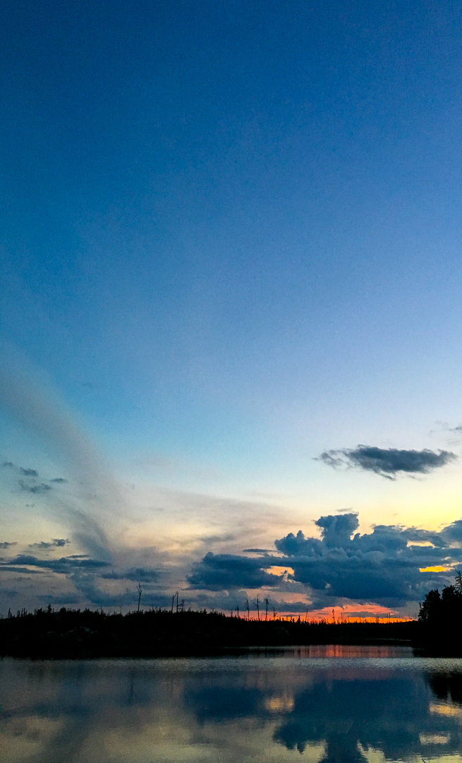 Final Sunset On Crooked Lake...BWCA