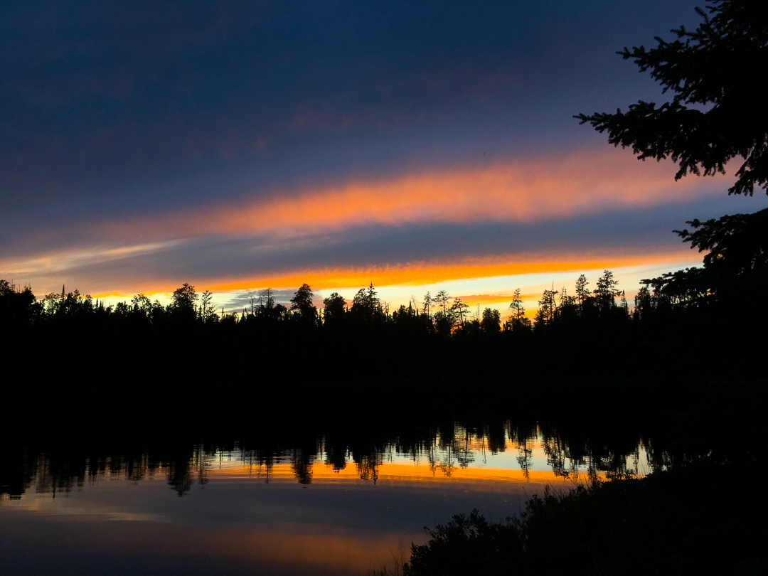 Final Sunset In The BWCA...Missing Link Lake