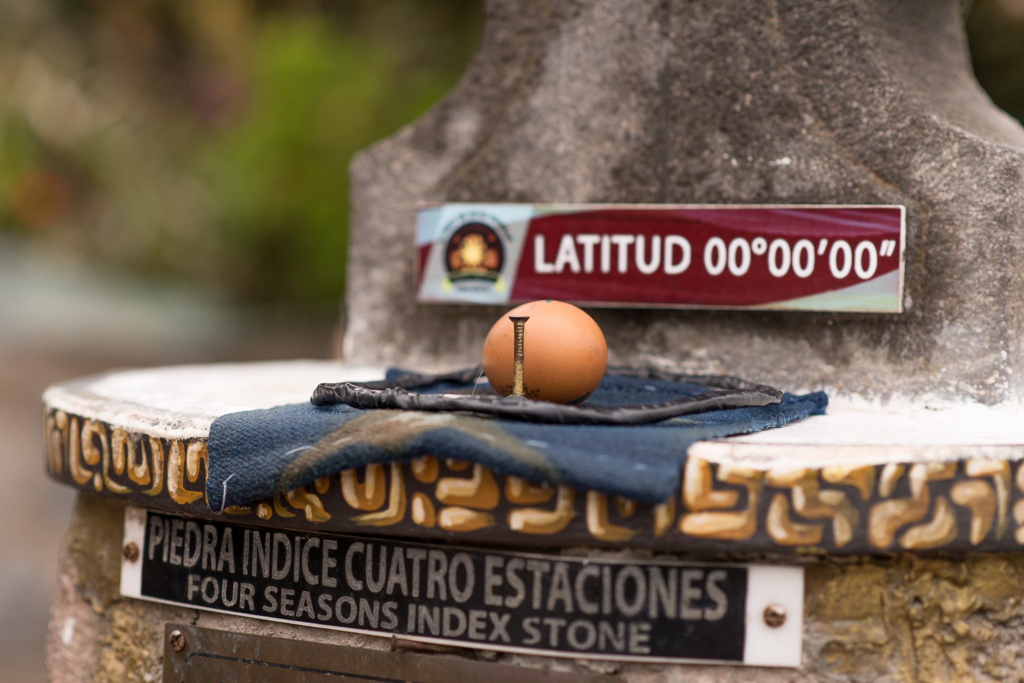 Pre-balancing of an egg on a nail on the equator...can't be done anywhere else
