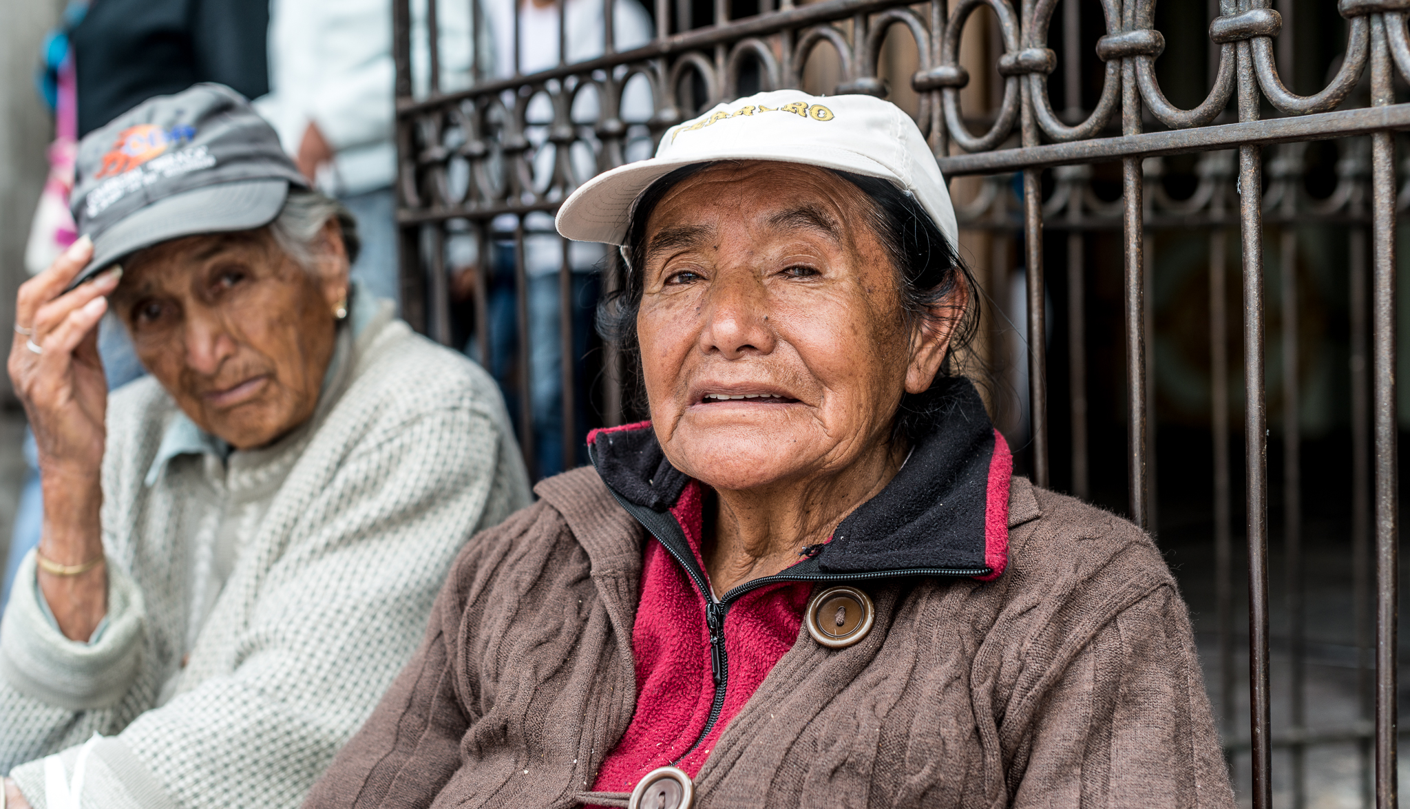Two friends outside a church...Old Town, Quito