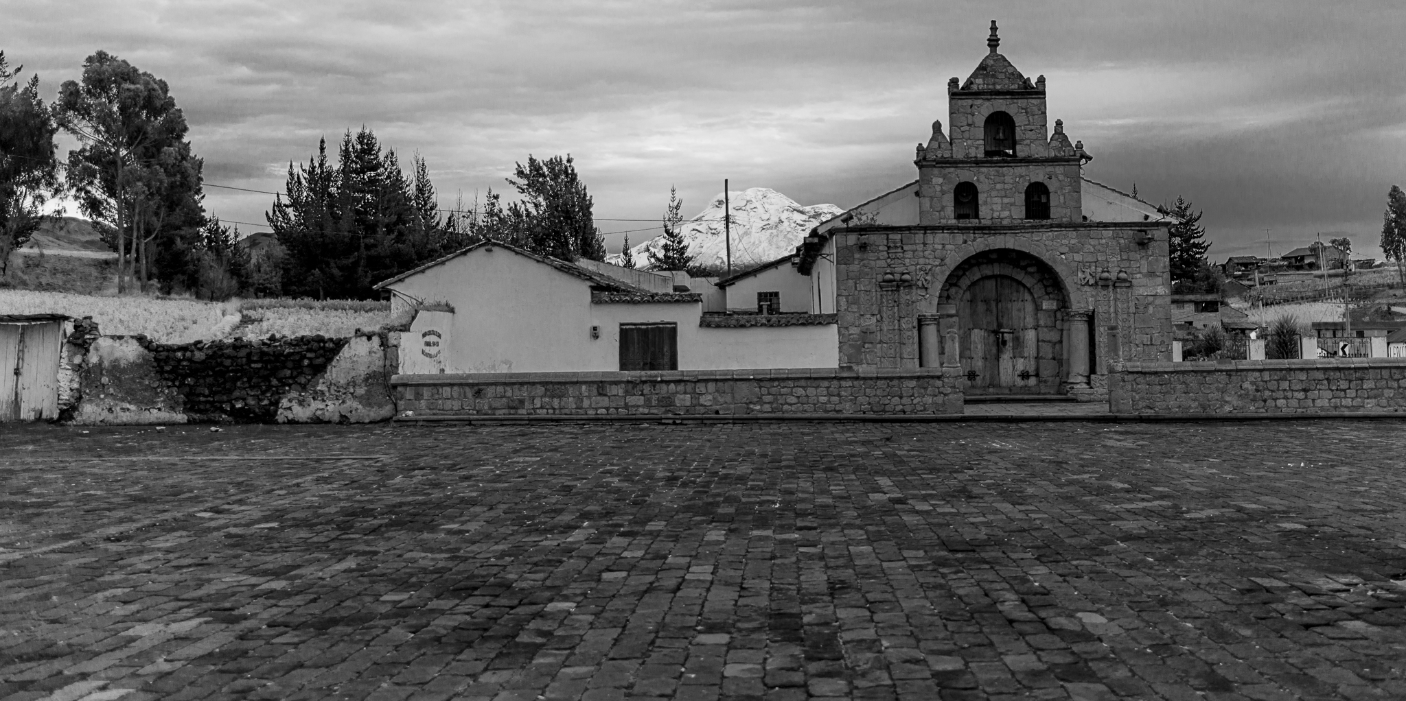 Oldest Church In Ecuador With Chimborazo In The Background...