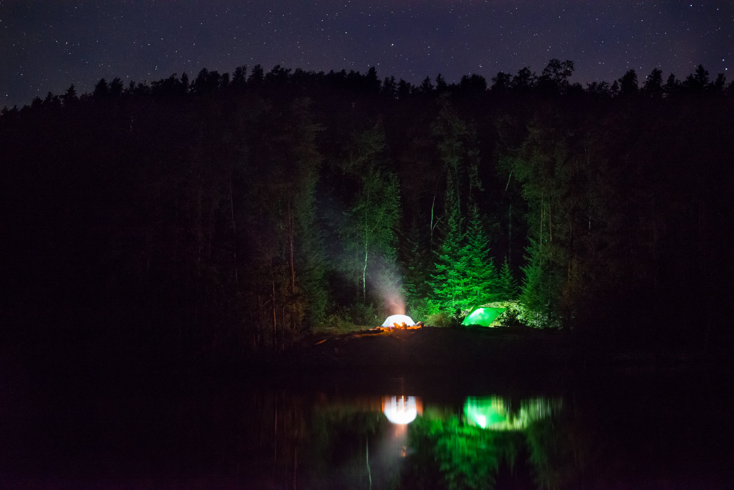 Cherry Lake Campsite At Night...