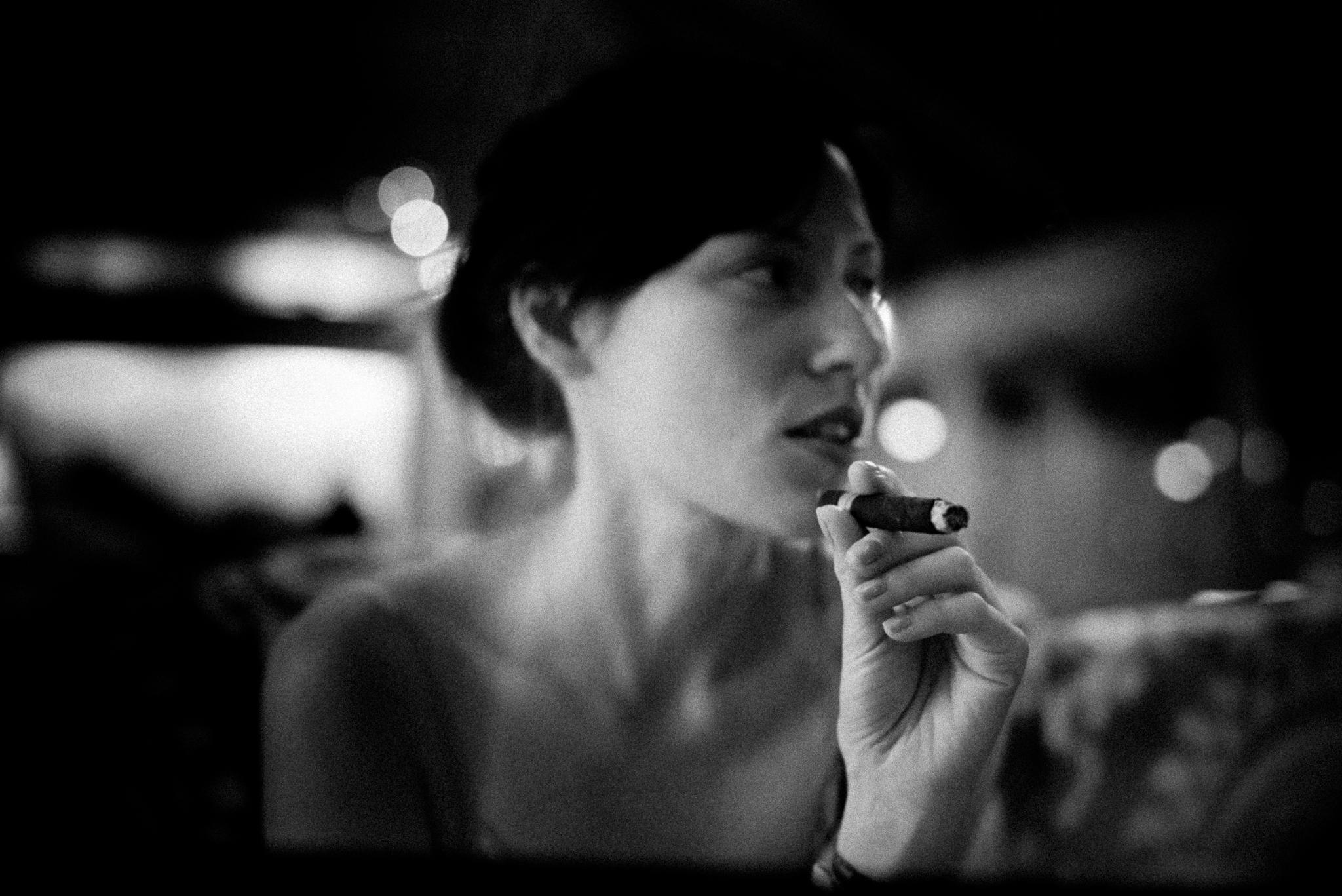 Cigar night in the lobby...