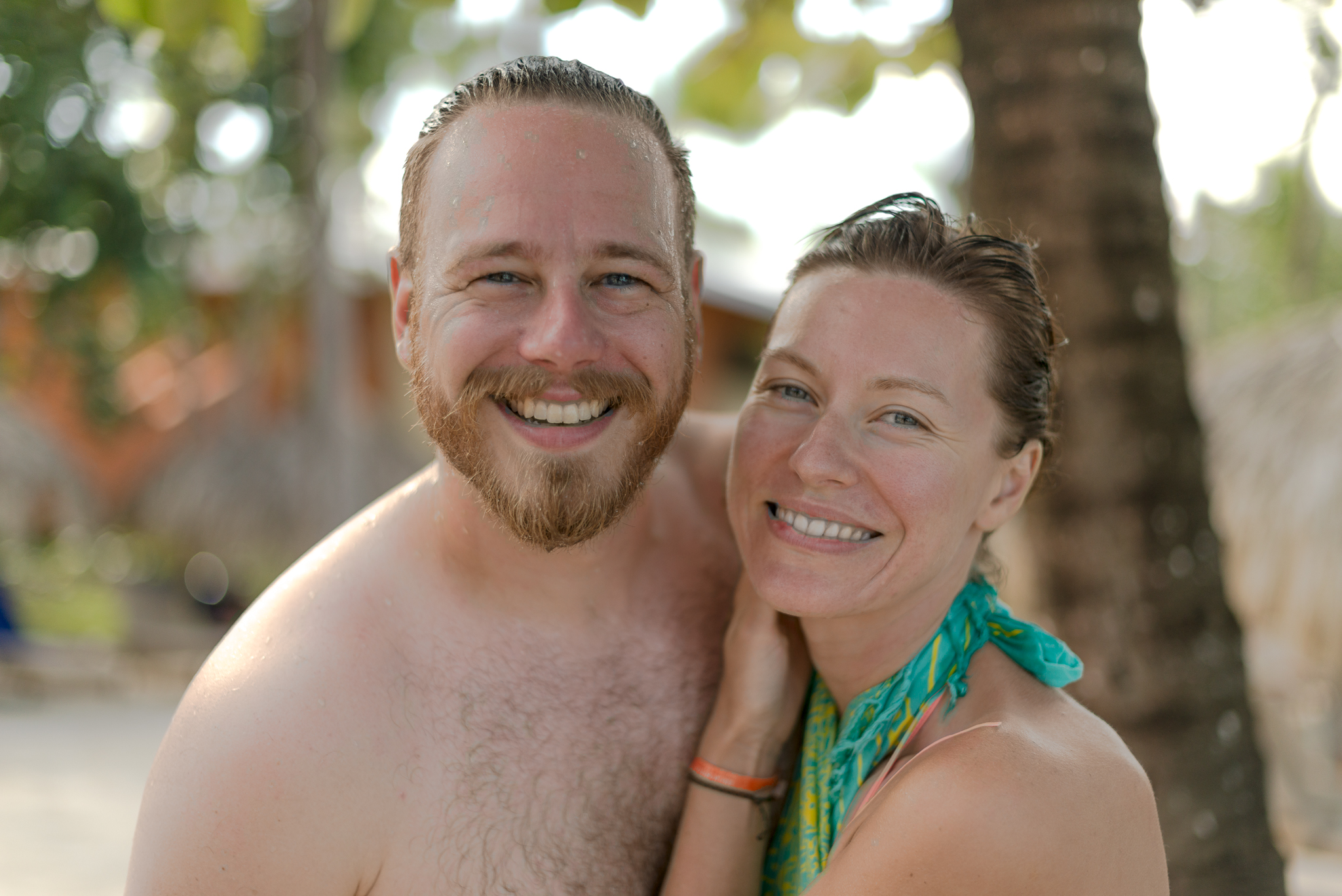 Ben And Kasha At The Pool After Underwater Photos...