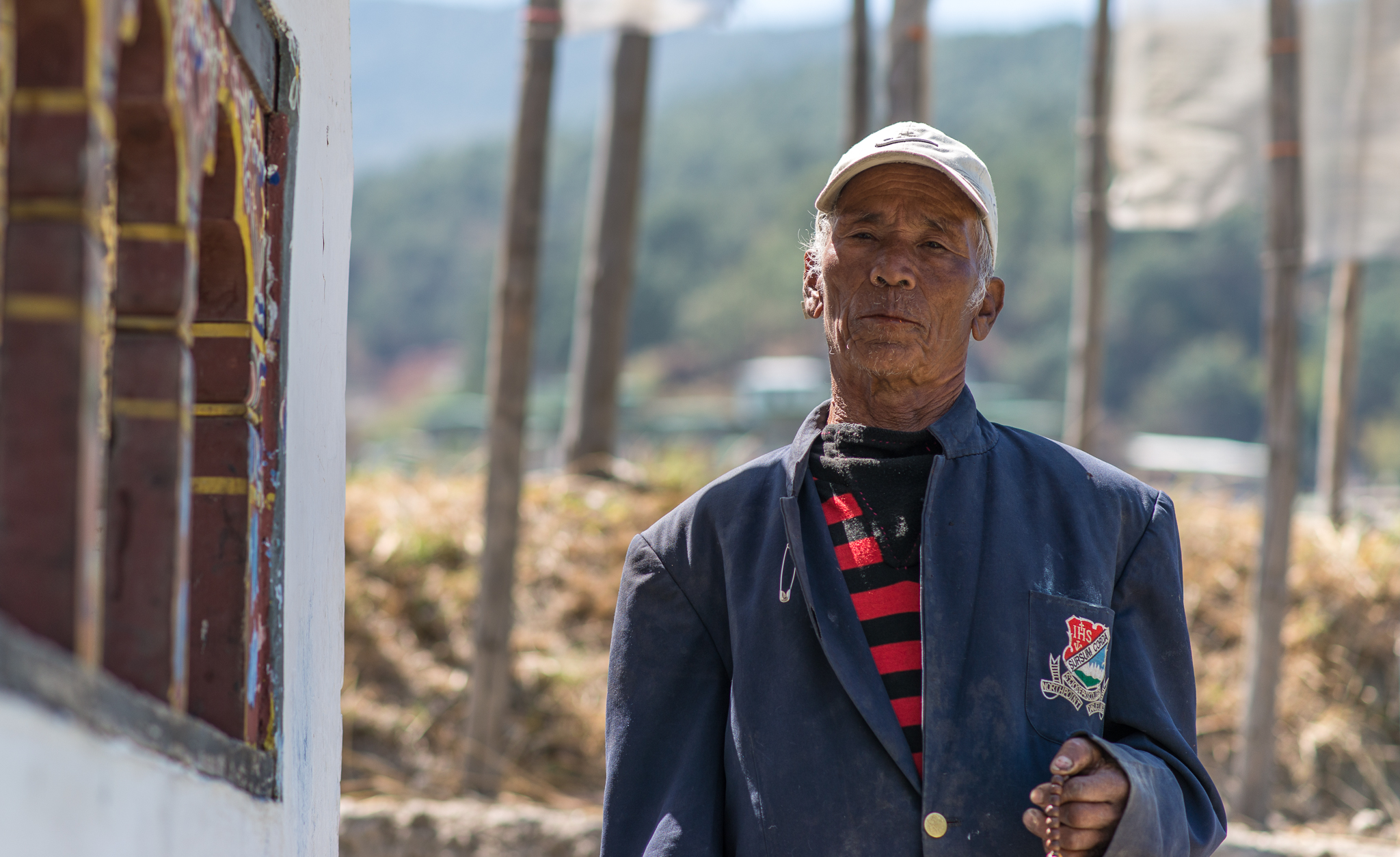 A local man we met on the hike.  He is 80 years old.  He was praying and spinning the prayer wheels.