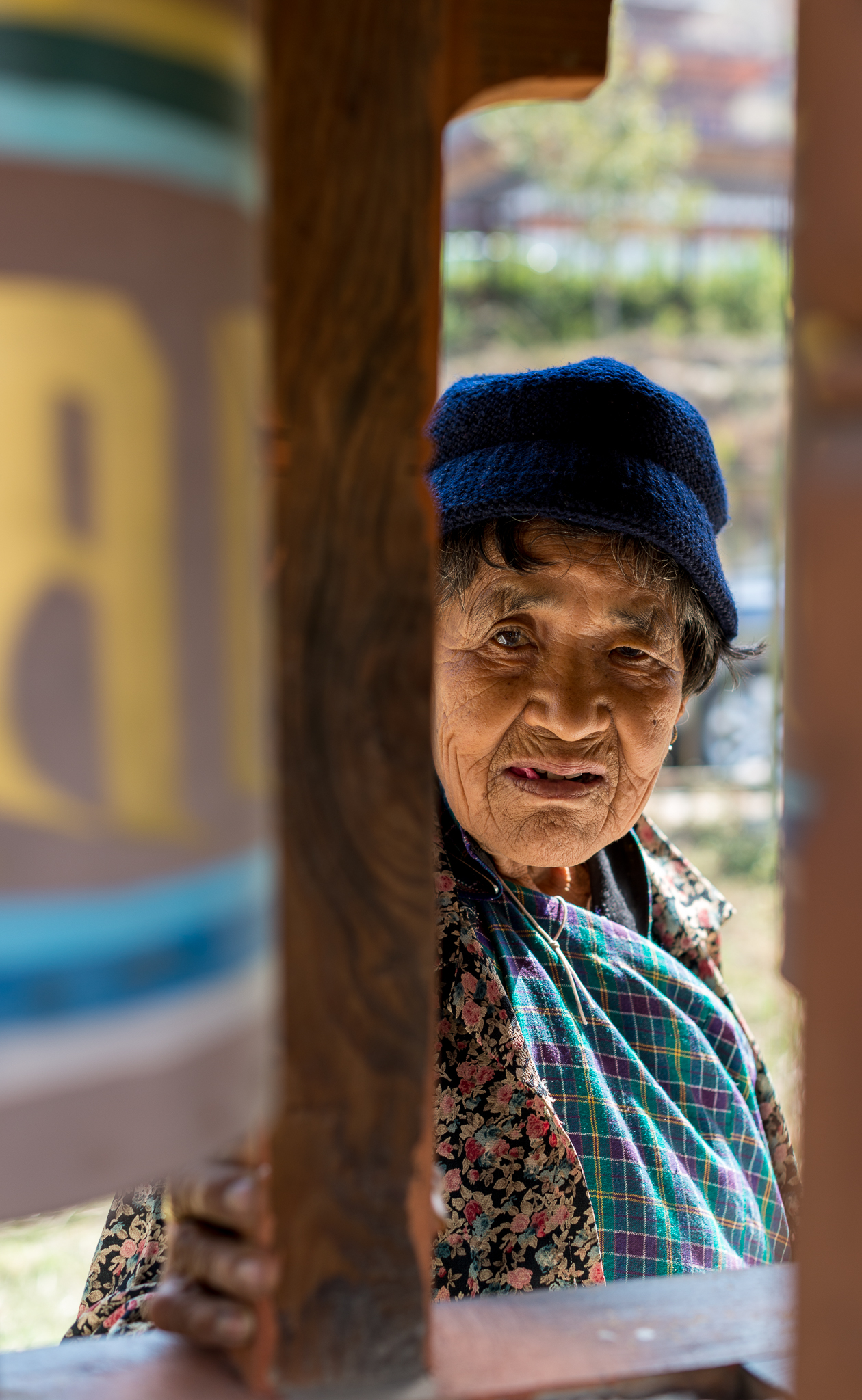 84 year old woman we met at the prayer wheels