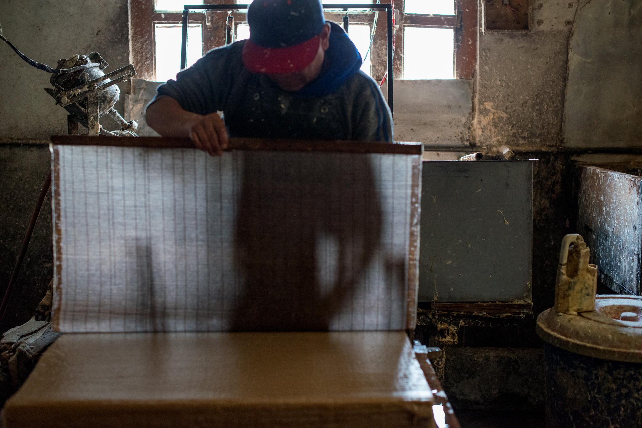 Paper making in Thimphu