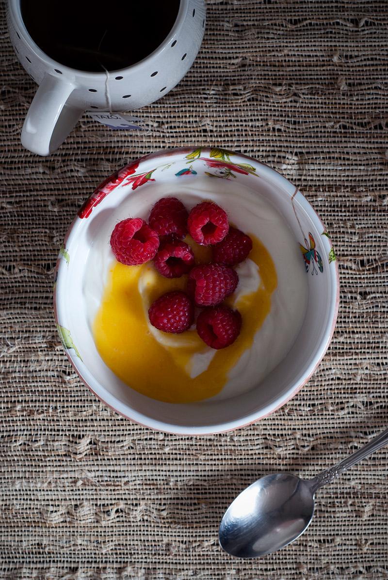 Meyer Lemon Curd in Greek Yogurt | Breadandbrushstrokes.com