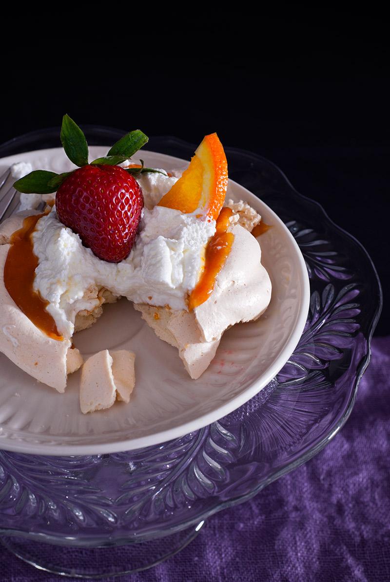 Triple Orange Mini Pavlova | breadandbrushstrokes.com