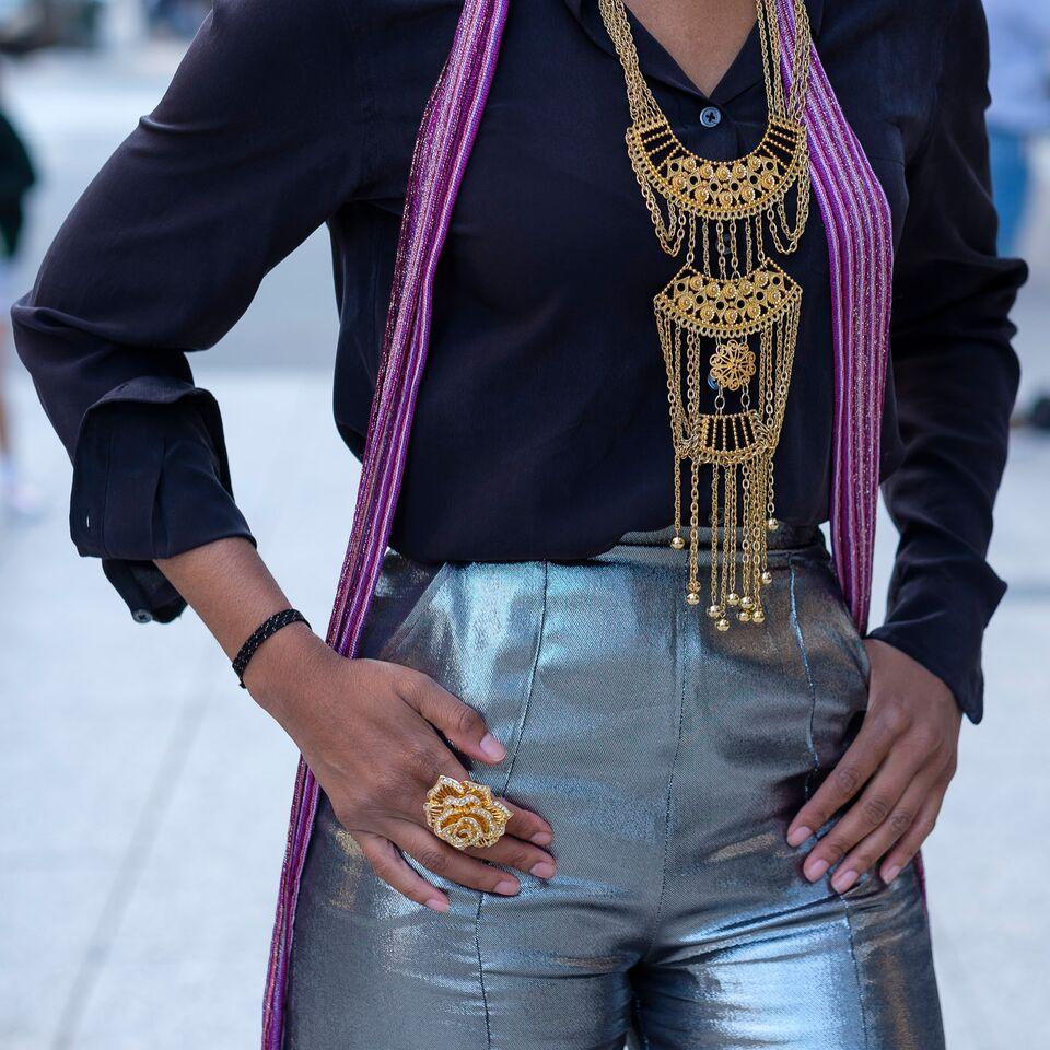 Christine_The_Syle_D'affaire_nyfw_wanda_nylon_silver_silk_blend_lame_wide_ leg_pants_missoni_scarf_gold__plated_jewelry_cognac_wedges_equipment_blouse_sunglasses_70s_vibes_samshbox_lipsticks.jpg