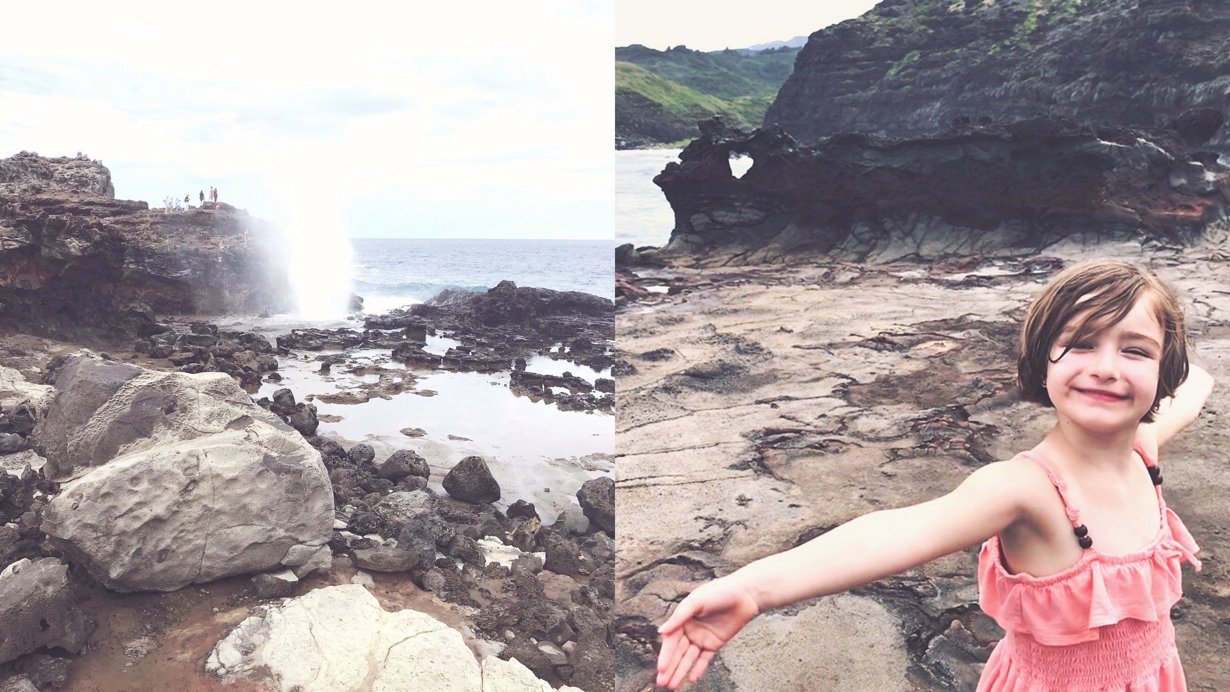 Nakalele blowhole and the heart rock.