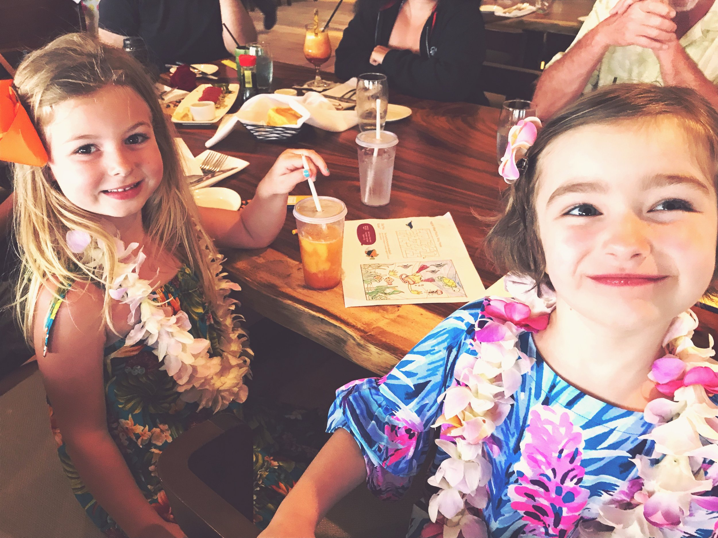 Fancy dinner (with leis) for our last night in Maui.