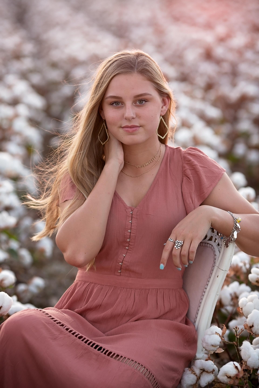 Senior Portraits in the Cotton Field Mini-Sessions