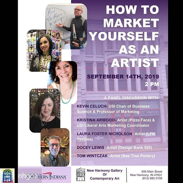 Arts panel at New Harmony Gallery of Contemporary Art @nhgca this Saturday!