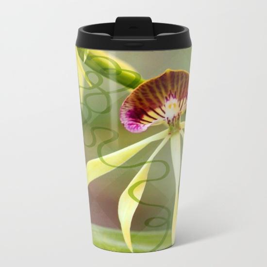 BLACK ORCHID travel mug