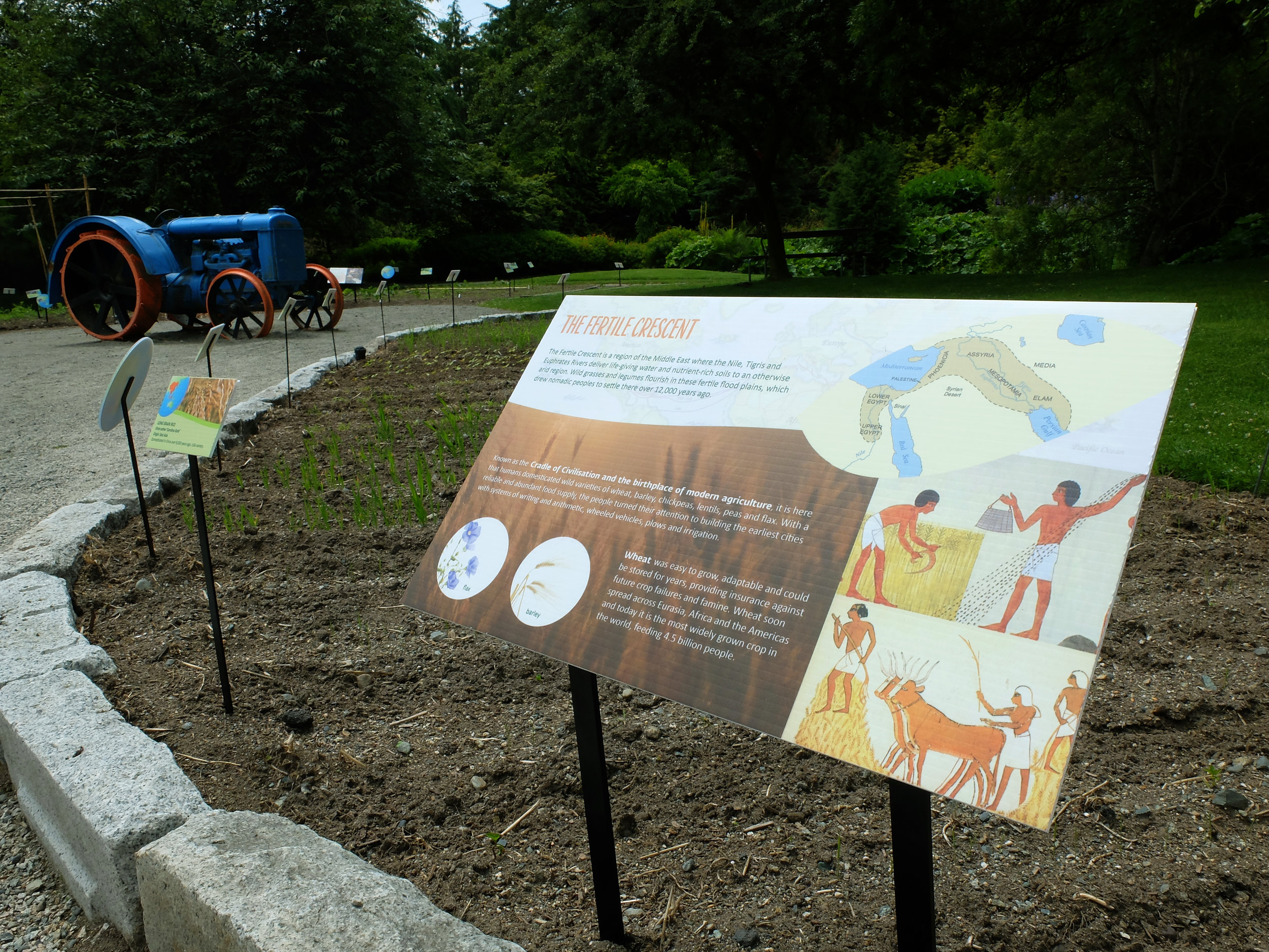 Interpretive Signage:  Vegetable Garden VanDusen Botanical Garden - Final installation