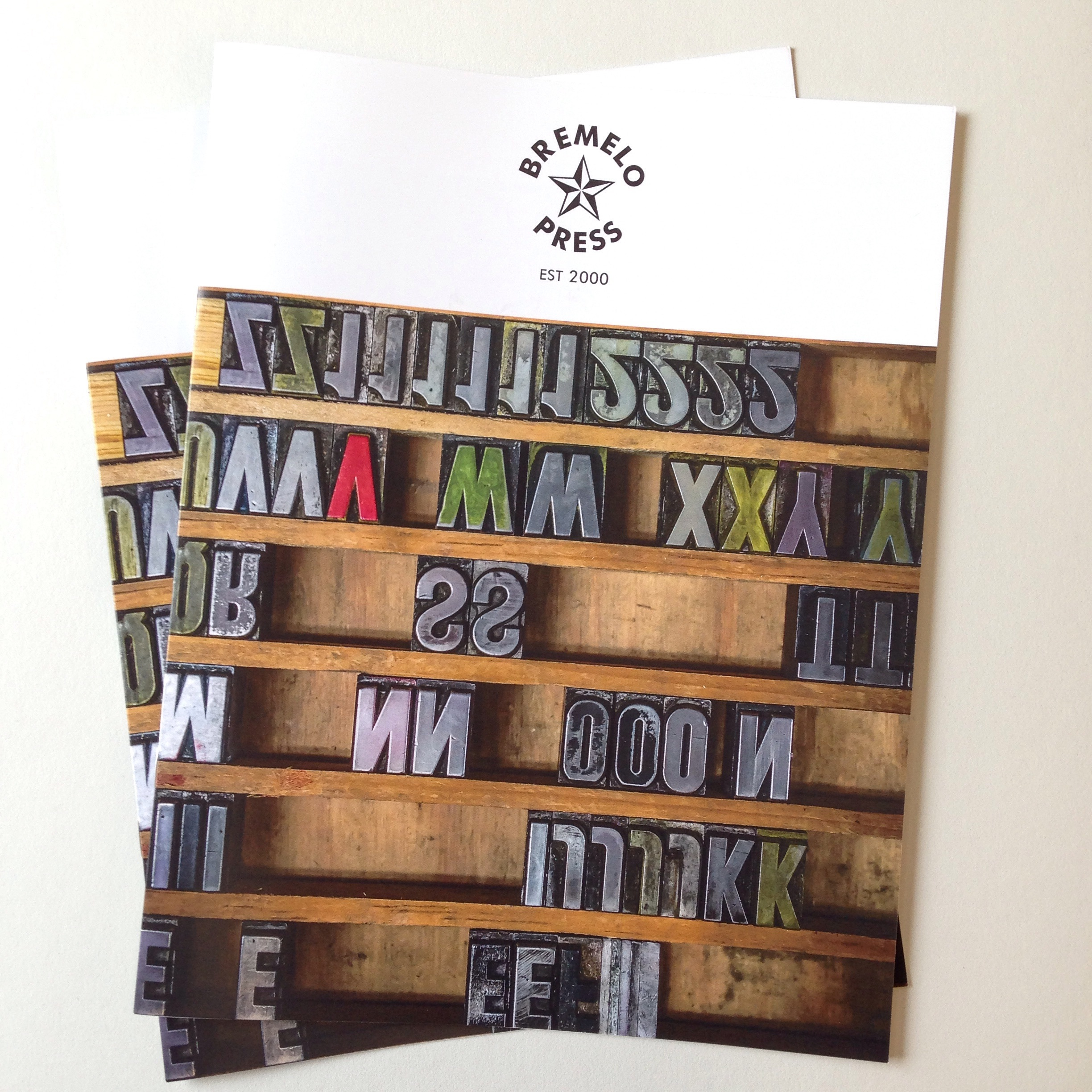 Bremelo Press wholesale catalog with cover photo by Noah Fecks.