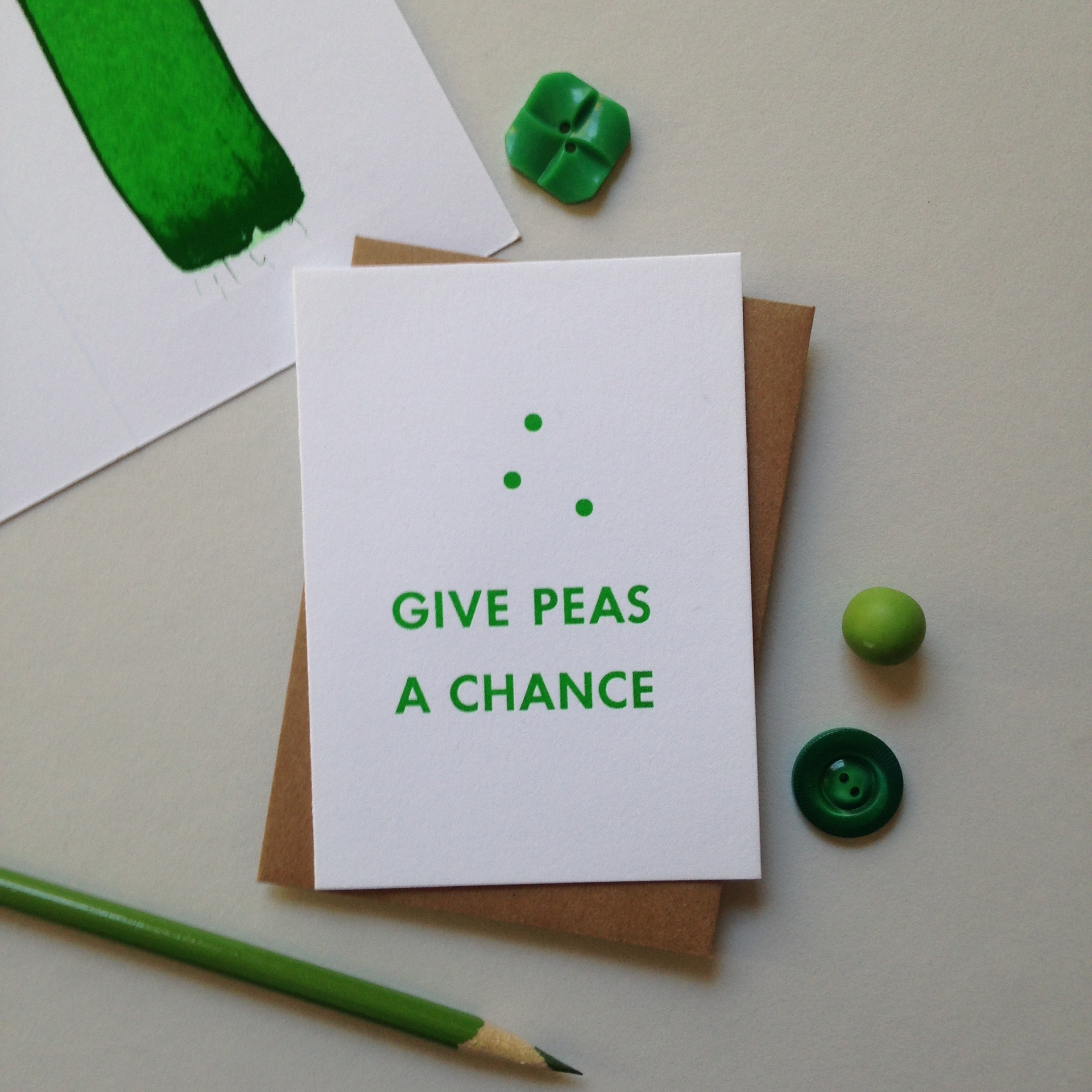 GivePeasaChance _Bremelo_Press_made_in_Seattle_letterpress_greeting_card