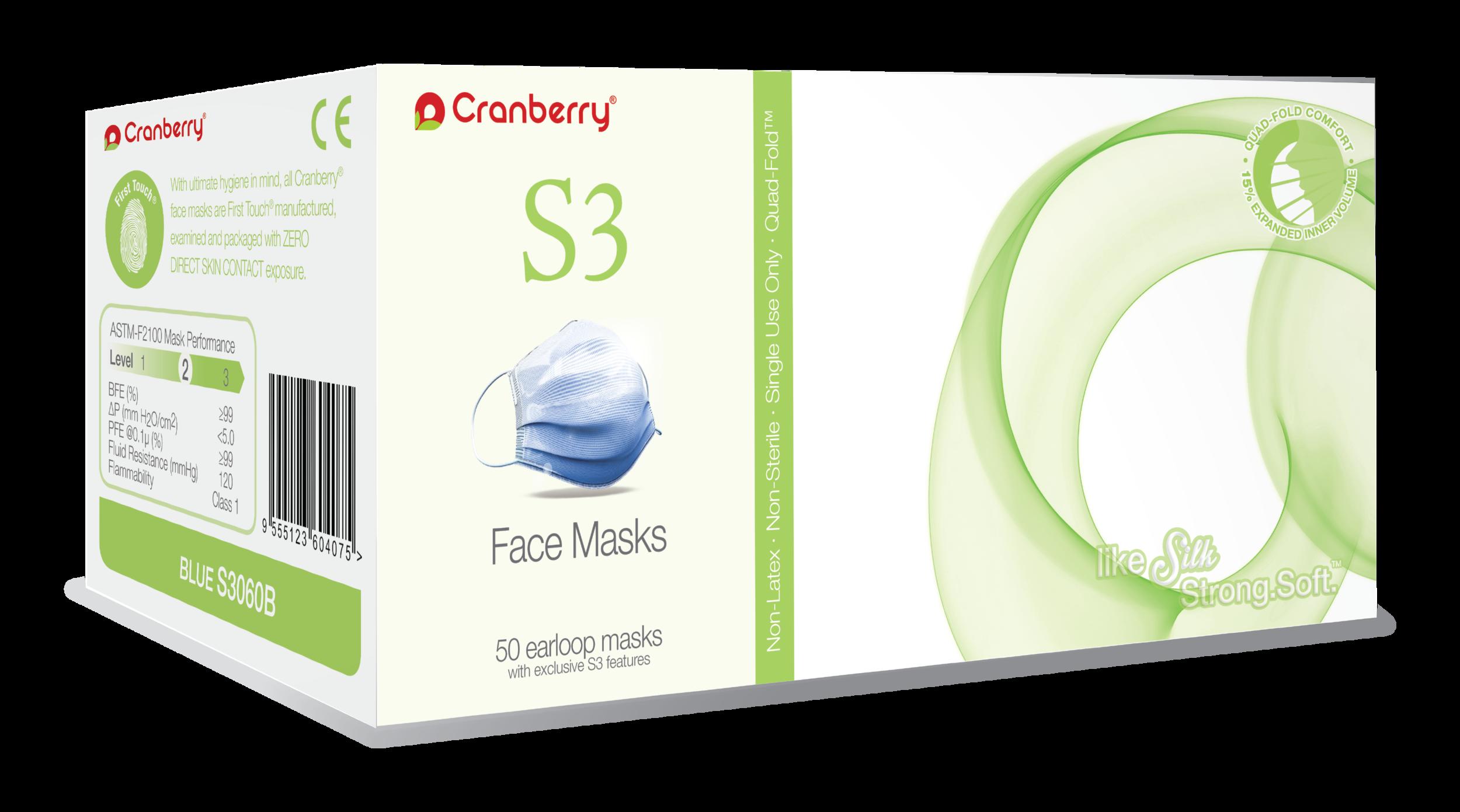 Cranberry Masks Usa — Face S3