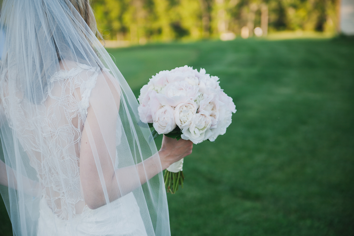 Peony Wedding Bouquet | Ranch Gold Club Wedding - Southwick, MA. | Kelly Burgess Photography