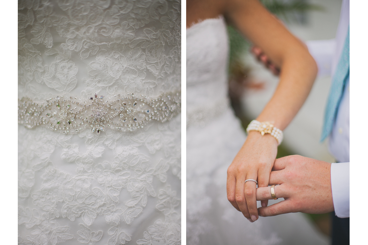 Wedding Dress Details and Wedding Rings | Winslow Estate - Orleans, MA | Kelly Burgess Photography