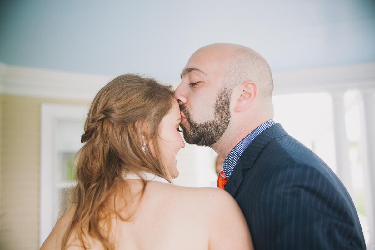 Bride and Groom Kiss | Endicott Estate Wedding - Dedham, MA. | Kelly Burgess Photography