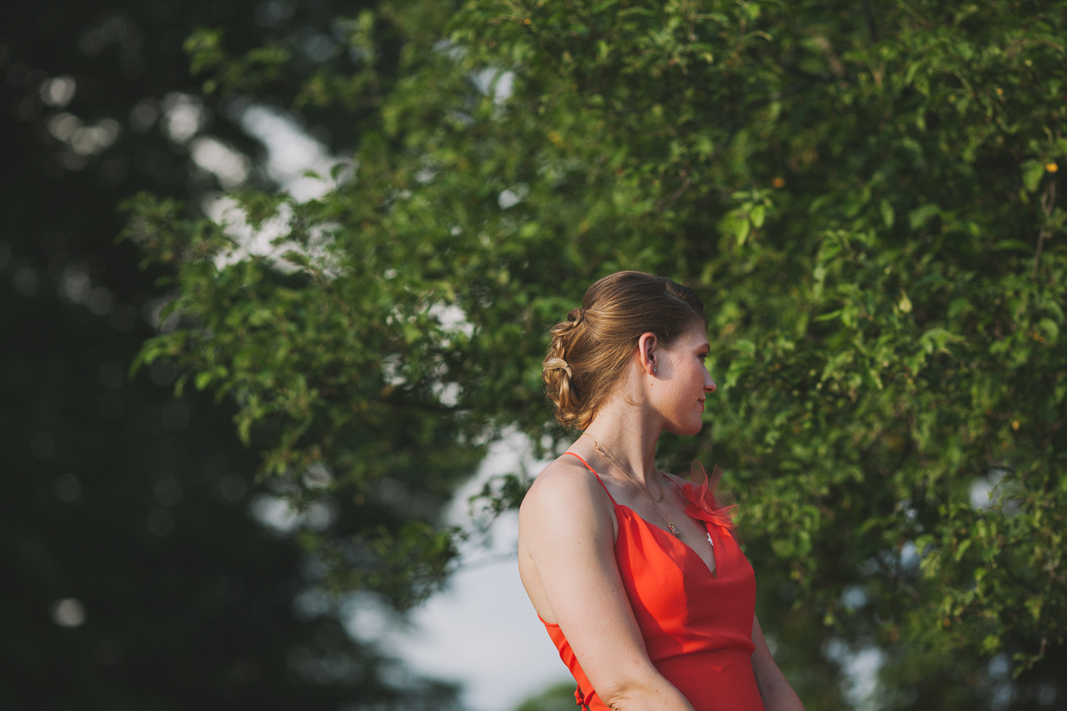 Maid of Honor, Coral Dress | Endicott Estate - Dedham, MA. | Kelly Burgess Photography